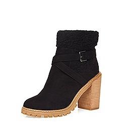 Dorothy Perkins - Black maple fur boots