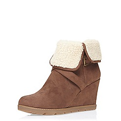 Dorothy Perkins - Chocolate monico suedette ankle boots