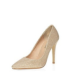 Dorothy Perkins - Gold glitter 'emie' courts
