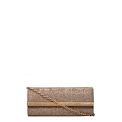 Dorothy Perkins - Gold brit clutch bag