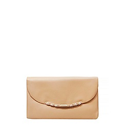 Dorothy Perkins - Nude butterfly clutch bag