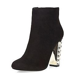 Dorothy Perkins - Black laser gem heel boots