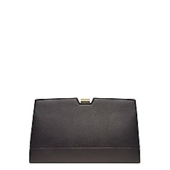 Dorothy Perkins - Black metal frame clutch bag