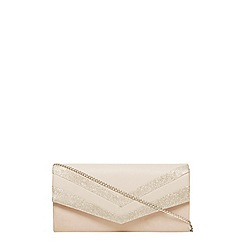Dorothy Perkins - Nude panel structured clutch bag