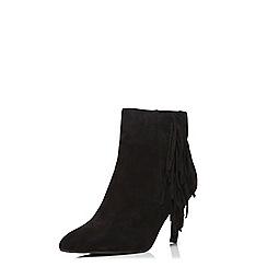 Dorothy Perkins - Black max fringe ankle boots