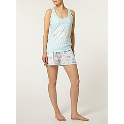 Dorothy Perkins - Cream palm pyjama shorts