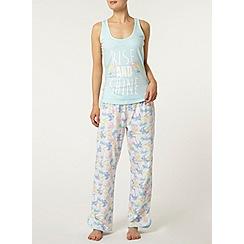 Dorothy Perkins - Cream palm print pyjama pant