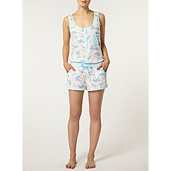 Dorothy Perkins - Cream palm pyjama playsuit