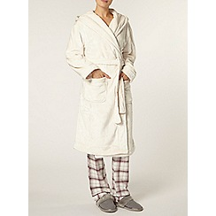 Dorothy Perkins - Cream super soft robe