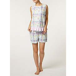 Dorothy Perkins - Multi check floral pyjama shorts