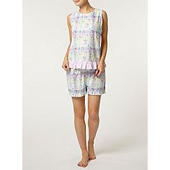 Dorothy Perkins - Multi check floral pyjama shorts