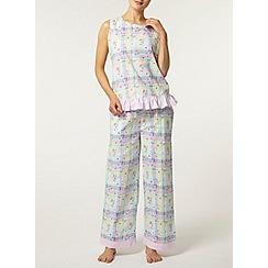 Dorothy Perkins - Multi check floral pyjama pant