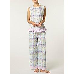 Dorothy Perkins - Multi floral check pyjama top