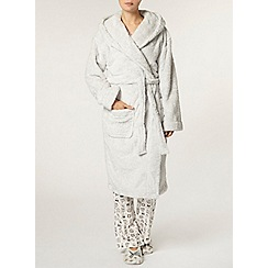 Dorothy Perkins - Grey marl owl robe