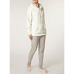 Dorothy Perkins - Cream glitter snuggle top