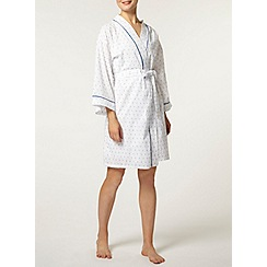 Dorothy Perkins - Cream/blue swiss dot kimono