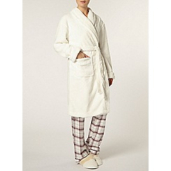 Dorothy Perkins - Cream glitter robe
