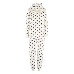 Dorothy Perkins - Cream star gazing bear onesie