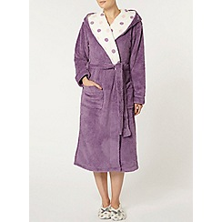 Dorothy Perkins - Purple and blush spot robe