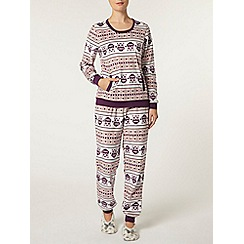 Dorothy Perkins - Purple fleece pyjama set