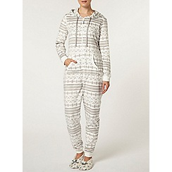 Dorothy Perkins - Cream fairisle onesie