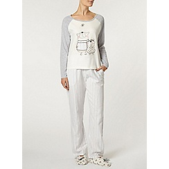 Dorothy Perkins - Cream star gazing bear pyjama set