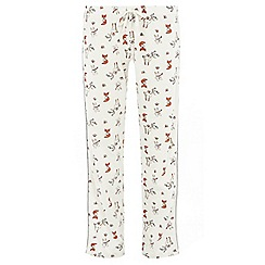 Dorothy Perkins - Cream animal pyjama bottoms