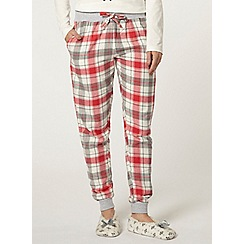 Dorothy Perkins - Red check pyjama pants