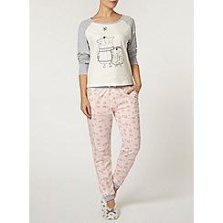 Dorothy Perkins - Pink floral pyjama pants
