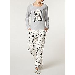 Dorothy Perkins - Grey panda pyjama top