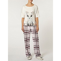 Dorothy Perkins - Cream folk fox pyjama top
