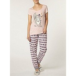 Dorothy Perkins - Pink nuts about you pyjama top