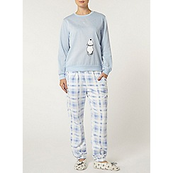 Dorothy Perkins - Blue moon and bear pyjama set