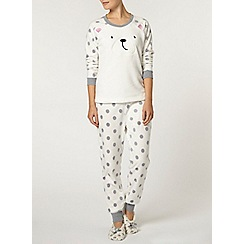 Dorothy Perkins - Cream star gazing bear pyjamas