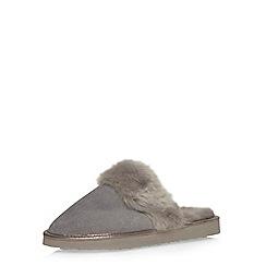 Dorothy Perkins - Grey suede mule slippers