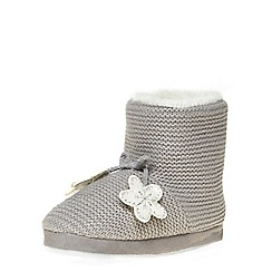 Dorothy Perkins - Grey knitted slipper booties