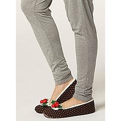 Dorothy Perkins - Brown christmas slippers
