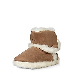 Dorothy Perkins - Tan bootie slippers
