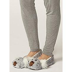Dorothy Perkins - Grey koala ballerina slippers