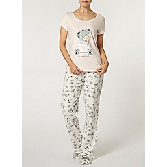 Dorothy Perkins - Pink cat and dog pyjama set