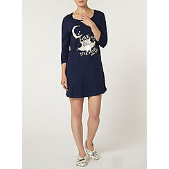 Dorothy Perkins - Navy owl nightshirt