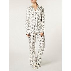 Dorothy Perkins - Cream owl revear pyjama set