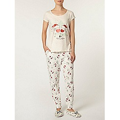 Dorothy Perkins - Oat christmas robin pyjama set