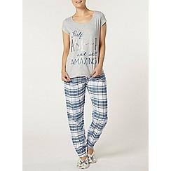 Dorothy Perkins - Grey half asleep pyjama set
