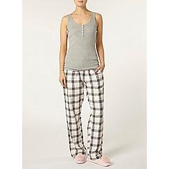 Dorothy Perkins - Pink woven check pyjama pants