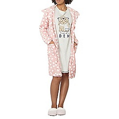 Dorothy Perkins - Pink heart print dressing gown