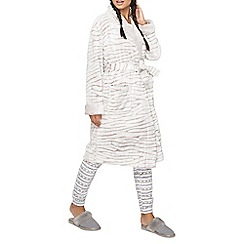 Dorothy Perkins - Zebra clipped dressing gown