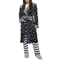 Dorothy Perkins - Navy print dressing gown