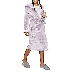 Dorothy Perkins - Wine hooded dressing gown