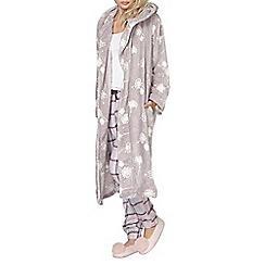 Dorothy Perkins - Mink dandelion print robe